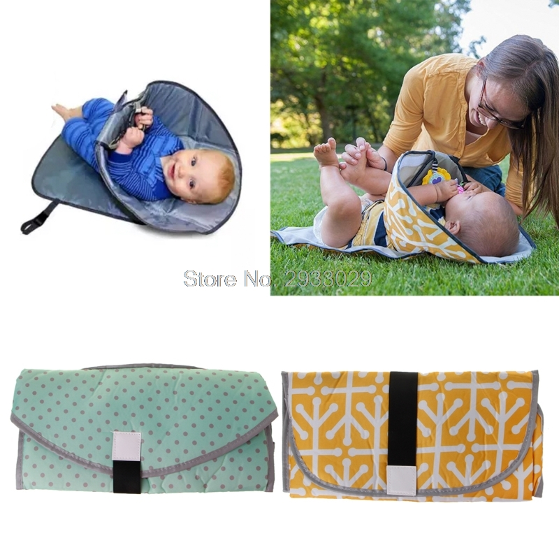 Newborn Clean Hands Changing Pad Portable Baby 3in1 Cover Mat Folding Diaper Bag Drop shipping