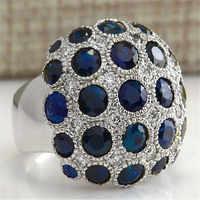 YWOSPX Anillos grandes de circonio de lujo de alta calidad para mujeres joyería boda Anillos Bijoux compromiso declaración anillo regalos Y30