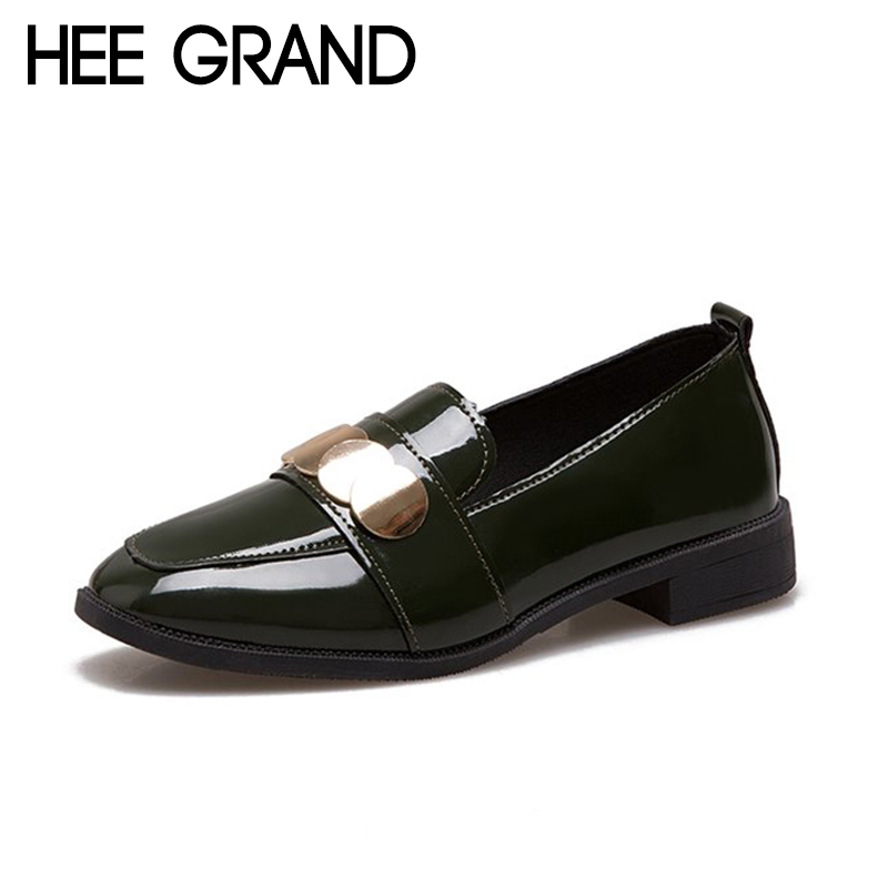 HEE GRAND Bling Decoration 2018 New Arrival Women Flats Vintage Style Women Causal Fashion Oxfords Causal Mujer Shoes XWD6751