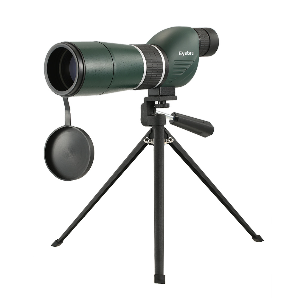 20 60x60 Straight Angled Spotting Scope with Tripod Portable Travel Scope Monocular Telescope with Tripod Carry