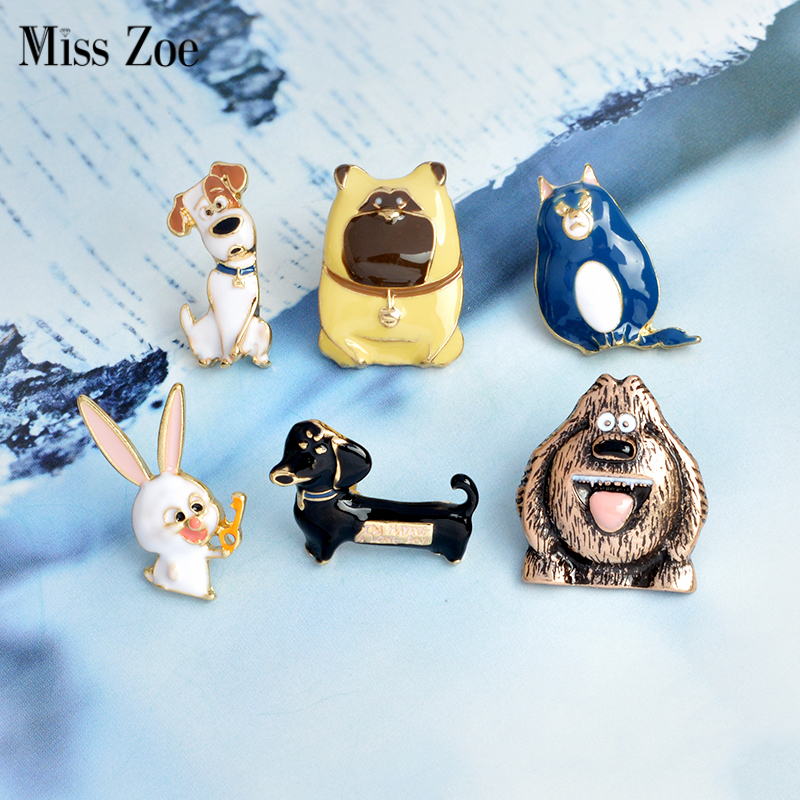 Apparel Sewing & Fabric Rabbit Puppy Cartoon Brooch For Jeans Dogs Brooches On Backpack Jacket Metal Badge And To Have A Long Life.