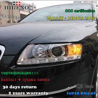 Hireno Car Styling Head Lamp For 2005 2011 Audi A6 Headlights LED Headlight Assembly DRL Angel