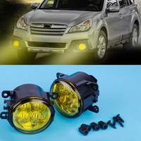 CITALL 33900 T0A A01 2X Highlighted LED Fog Light Lamp w/ Yellow Lens for Ford Focus Acura Subaru Mitsubishi Nissan FIAT Suzuki