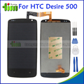 100% Tested For HTC Desire 500 New Lcd Display Touch Screen Digitizer Assembly Replacement Repair Parts Black + Tools