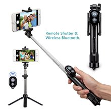 FGHGF T1 Selfie Stick Bluetooth Remote Tripod Extendable Mini Monopod Universal Pau De Palo selfie stick For iphone7 8 X xiaomi