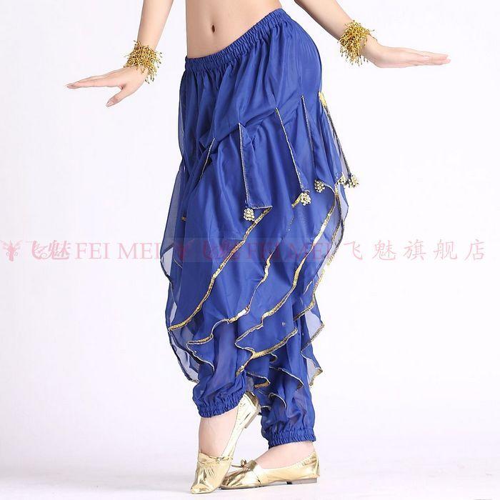 Indian Broek Vrouwen Buikdans Kostuum Broek Rokken/chiffon Bloeiers/buikdansen Rotary Beam Been Goud Velg Broek Voor Koop Speciale Zomerverkoop