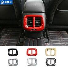 MOPAI ABS заднего сиденья воздуха на выходе Vent украшения крышка наклейки для Jeep Cherokee 2014 до интерьер автомобильные аксессуары стайлинга автомобилей