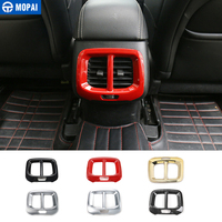 MOPAI ABS ملصقات لديكور فتحة التهوية للمقعد الخلفي لسيارة جيب شيروكي 2014 ملحقات السيارة الداخلية-في ملصقات السيارات من السيارات والدراجات النارية على