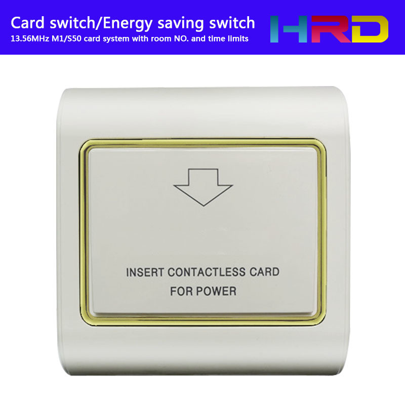 Access Control Round Gold Switch T57 125khz Power Switch Insert Hotel Key Card To Take Energy Guest Keycard Holder Wall Reader Promix Rfid