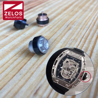 10.5mm*2.0mm steel rubber watch crown winder For RM Skull automatic watch Rm011 Rm35 RM030