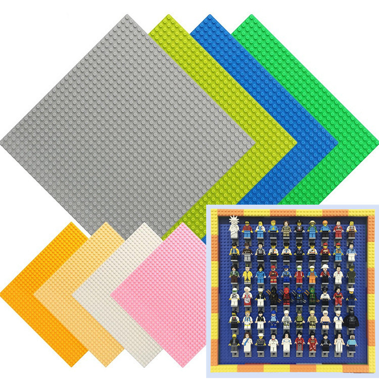 32*32 Dots Baseplate Board For Small Bricks Bracket Building Blocks DIY Minifig Display Box Figures Stand Base Plate Holder Toys