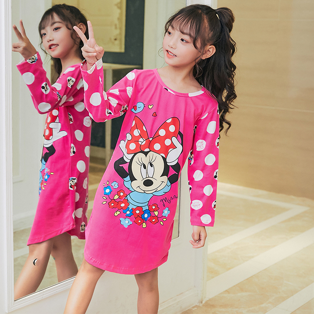 Spring and autumn Girls Princess Dresses New 2018 Children Home Clothing  Baby nightdress Cotton Nightgown Kids 40e0d890b