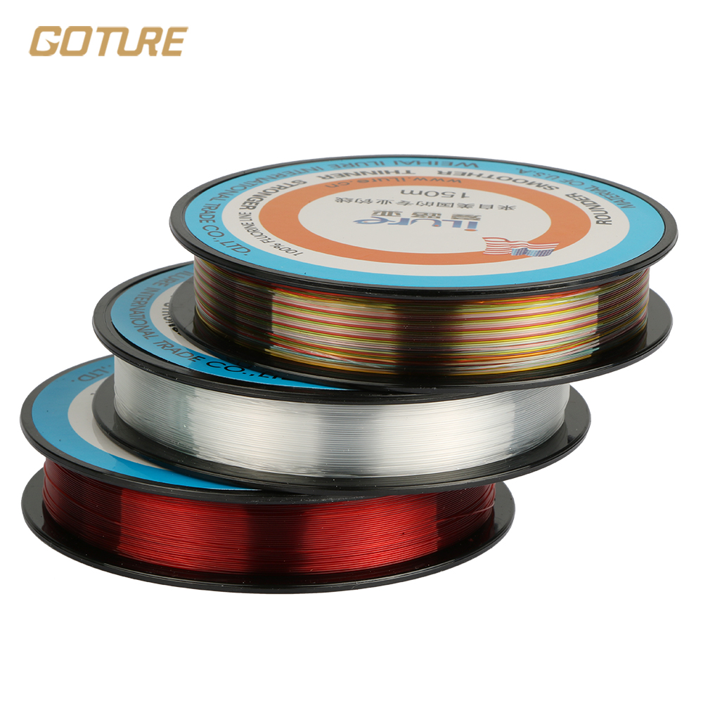 Ilure 150m fluorocarbon fishing line high quality abrasion for Fluorocarbon fishing line