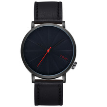 Famous Fashion Casual Men 's Bussines Retro Design Leather Round Band Watch Ultra Slim Men's Watches with box