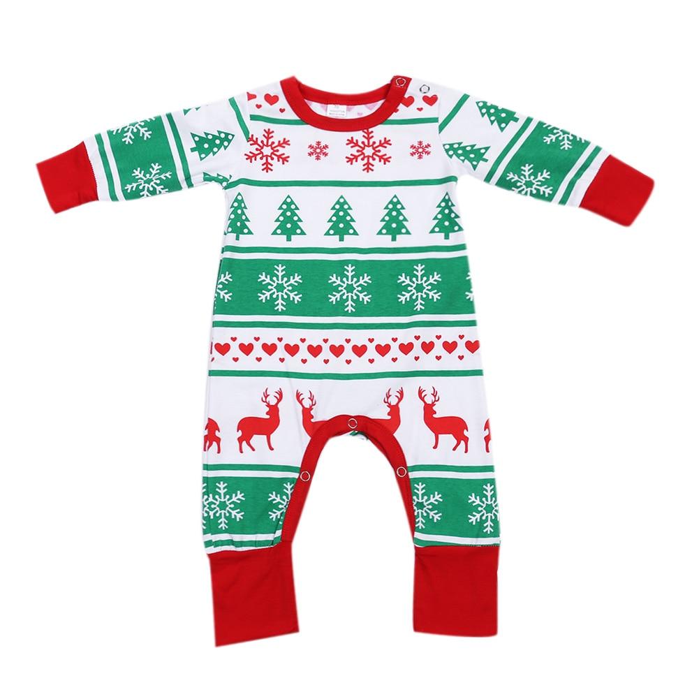 Newborn Baby Clothes Snowflake Reindeer Christmas Tree Printed ...