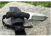 FOX D2 Fixed Blade Knife Black G10 Full Tang Small Straight Knife Stainless Steel Survival Hunting Knives1857#