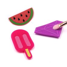 Soft Silicone Makeup Brush Cleaner Pad Make Up Washing Gel Cleaning Mat Hand Tool Foundation Scrubber