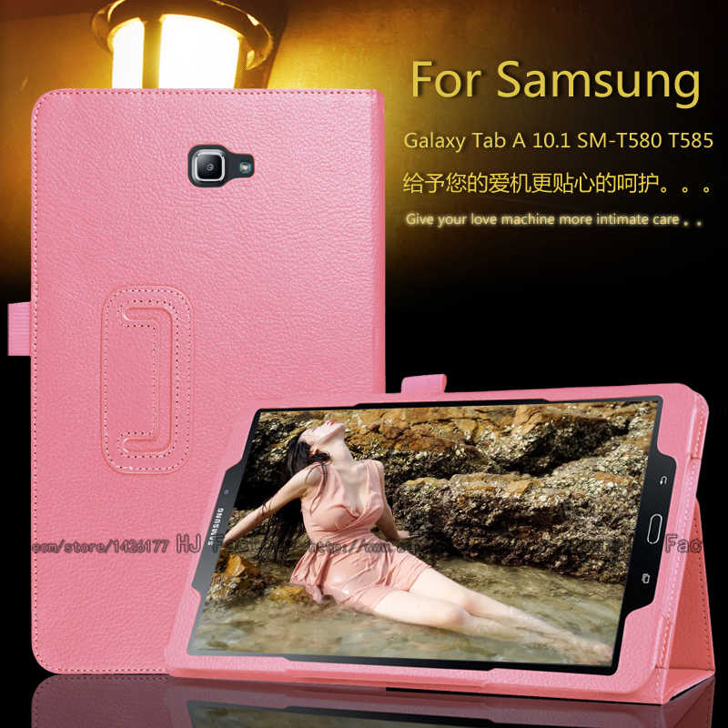 Case Voor Samsung Galaxy Tab Een A6 10.1 T580 T585 SM-T580 SM-T585 Magnetische Wake Up Sleep Flip Case Cover
