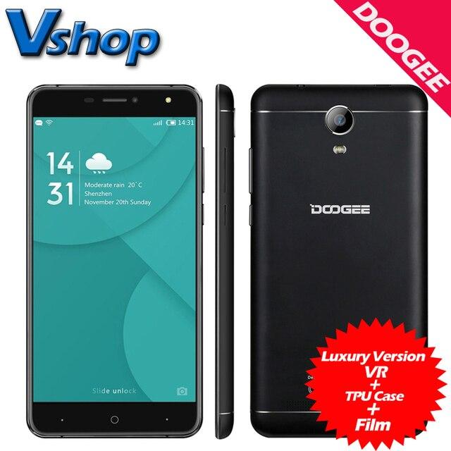 Original DOOGEE X7 Pro 4G LTE Mobile Phone Android 6.0 2GB RAM 16GB ROM MTK6737 Quad Core 720P Dual SIM 6.0 inch Cell Phones