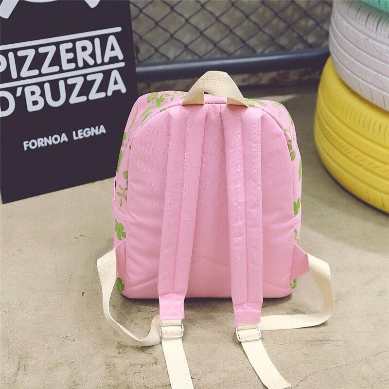 Canvas Women School Bag Backpacks for Girls Mochila fresh Flower Printing Computer Laptop Backpack School Rucksack hl213
