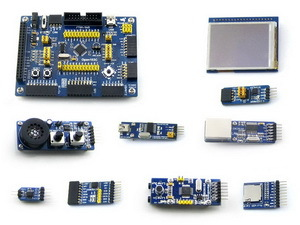 STM32 Board STM32F103CBT6 STM32F103 ARM Cortex-M3 STM32 Development Board Kit+ 9 Accessory Kits =Open103C Package B xilinx fpga development board xilinx spartan 3e xc3s250e evaluation board kit lcd1602 lcd12864 12 modules open3s250e package b