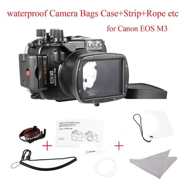 Meikon 40 m/130ft Caso Caixa Da Câmera à prova d' água para Canon EOS M3 (18-55mm Porta), Sacos de Caso Câmera subaquática para Canon EOS M3