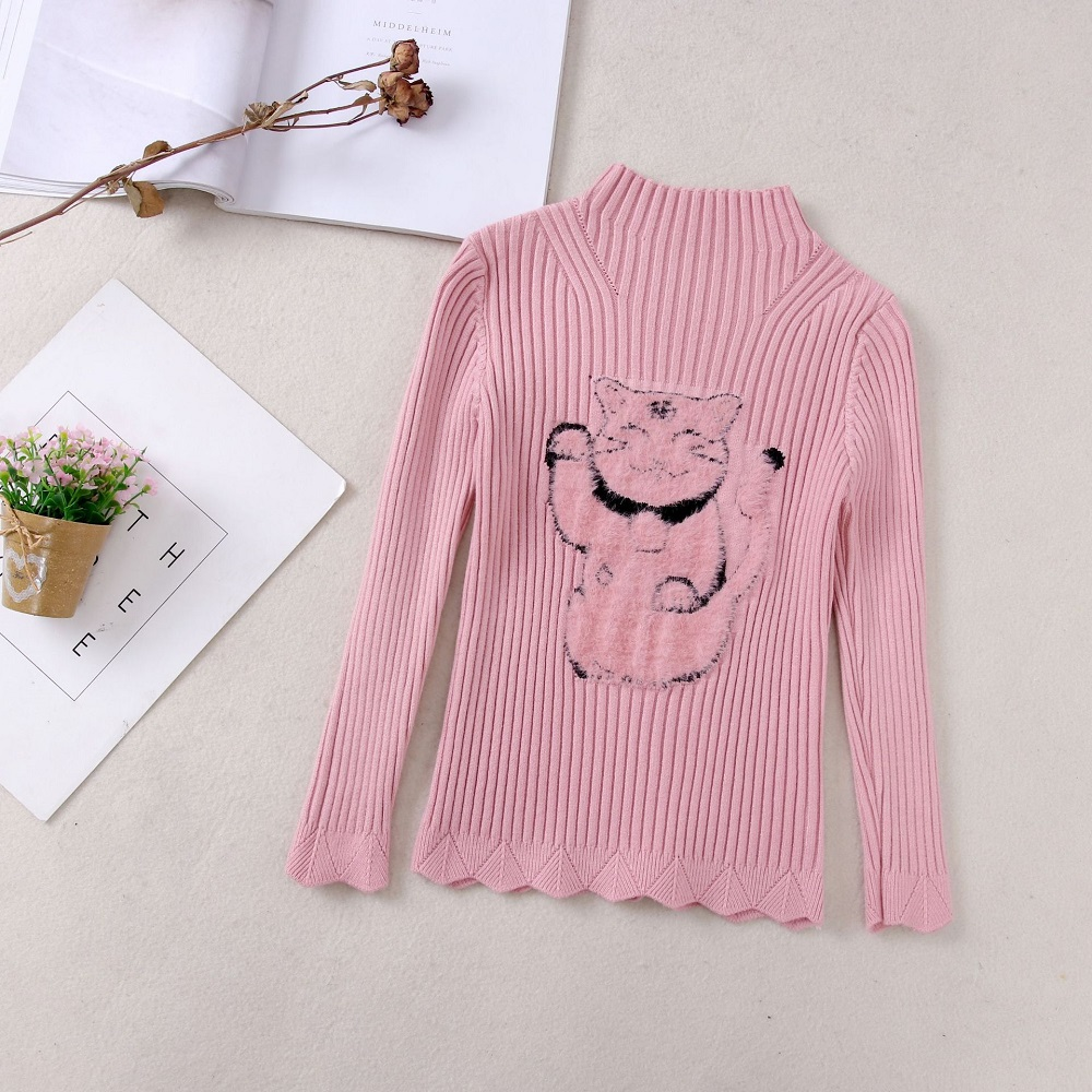 Baby Sweaters For Girls Autumn Winter New Toddler  Sweater Christmas Knitted Kids Girl Clothes Solid O-neck Children Clothing