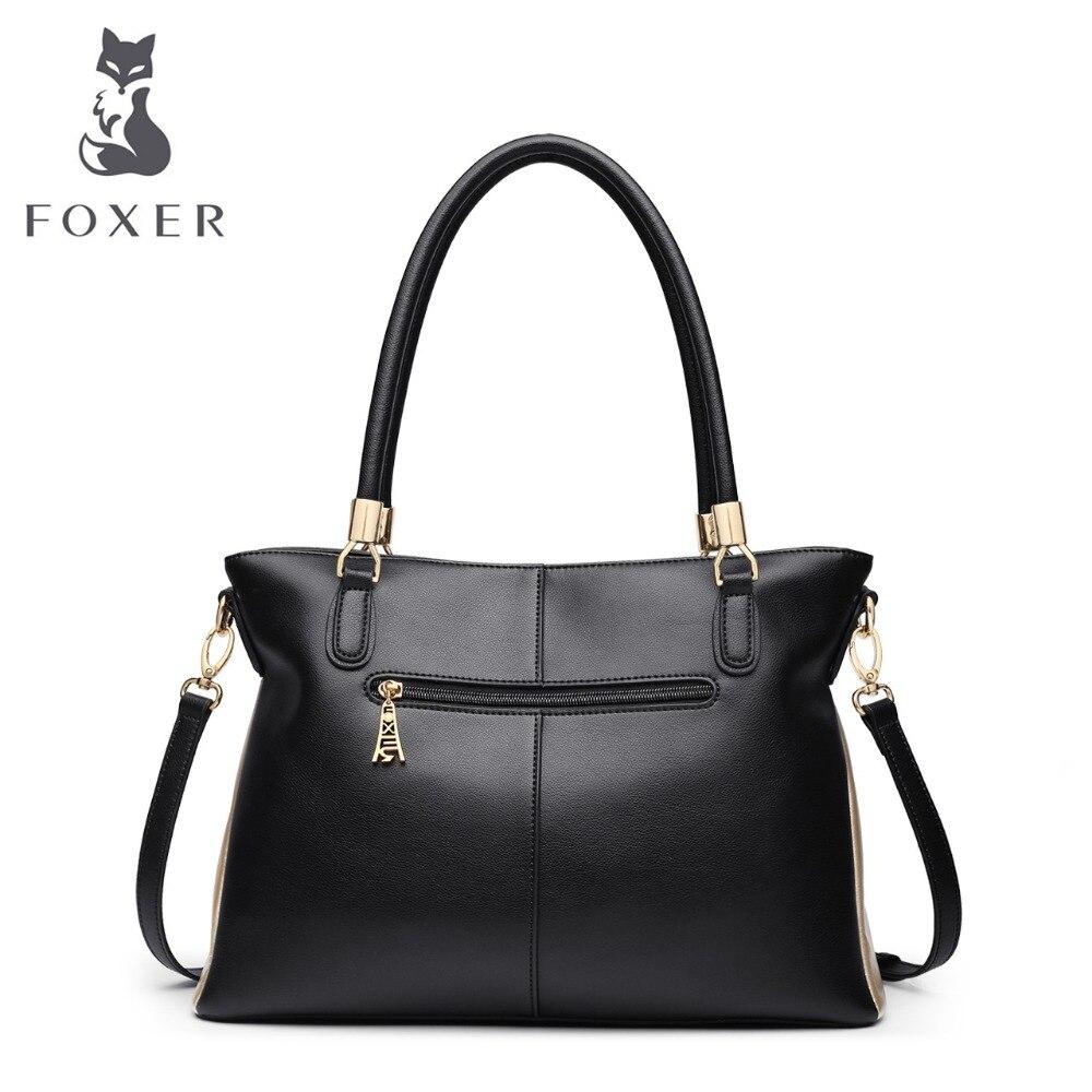 FOXER Брендовые женские сумки из воловьей кожи и сумки через плечо, женские модные сумки, женские сумки через плечо - 3
