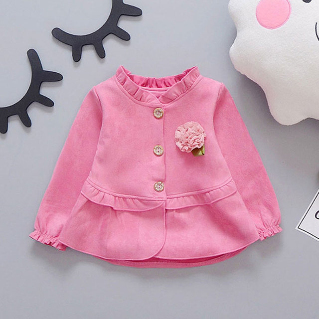 2017 Spring Trench Coats for Baby Girls Fashion baby Jackets Outfit Sport Kids Clothes Solid Brand Infant girl Clothing Coat