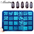 New Polish Nail Stamping Plates 1pcs Flowers French Designs Stencil Nail Art Stamp DIY Beauty Manicure Nail Template Tools