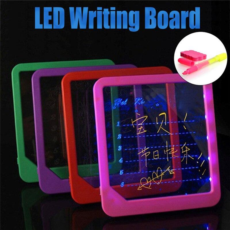 Helder 2019 Fashion Kinderen Toysacrylic Led Board Light Up Tekening Schrijven Speciale Puzzel Onderwijs Speelgoed Geschenken