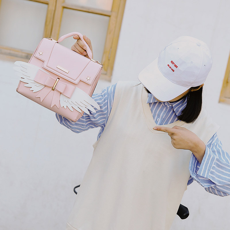 Japanese Cardcaptor Sakura Pink Handbag  1