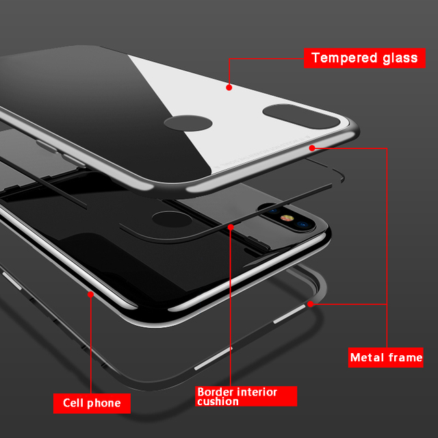 360 Magnetic Adsorption Case for Huawei P30 P20 Lite P10 Plus Nova 2S 2i 3 3i 3e 4 4e Y6 Prime 2018 Y9 2019 Mate 10 20 20X Cases 2