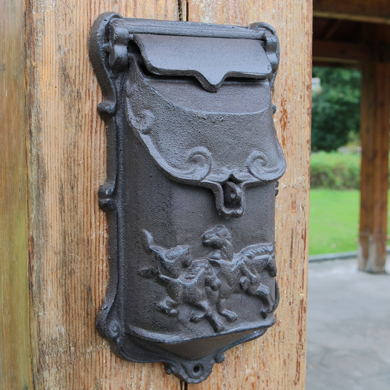 Cast Iron Mailbox Outdoor Post Mailbox Wall Mount