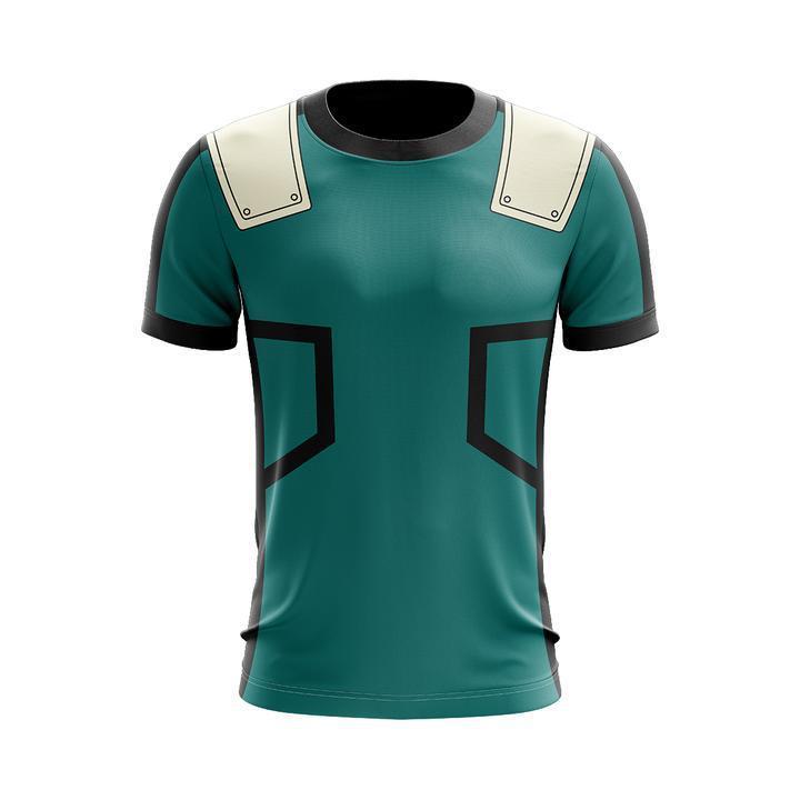 My hero Academia Izuku Midoriya Cosplay Costume T-shirt 3D Printed T shirt Tops