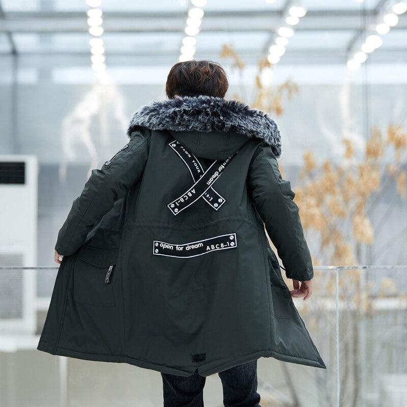 2019 New Fashion Winter Warm Jacket Men Thick Casual Print Men   Parkas   Hombre Hooded Men's Overalls Jacket