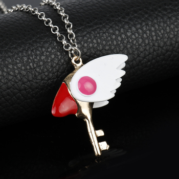 Card Captor Sakura Kinomoto Sealing Wand Key Necklace 1