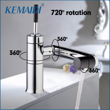 KEMAIDI Free Shipping Deck Mounted Kitchen Faucet Bathroom Faucets Swivel 360 Brass Hot&Cold Water Torneiras Cozinha Tap Mixer