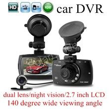 Big discount HD 2.7″ inch LCD screen Car DVR G30 Allwinner F23 Car Camera Recorder Night Vision two cameras 140 degree wide viewing angle