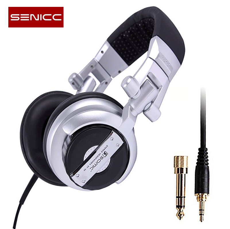 Authentic SENICC ST-80 Professional DJ Headphone Stereo Studio Earphone, Gaming Monitor Headset Headphones with 3.5mm 6.3mm Jack oneodio professional studio headphones dj stereo headphones studio monitor gaming headset 3 5mm 6 3mm cable for xiaomi phones pc