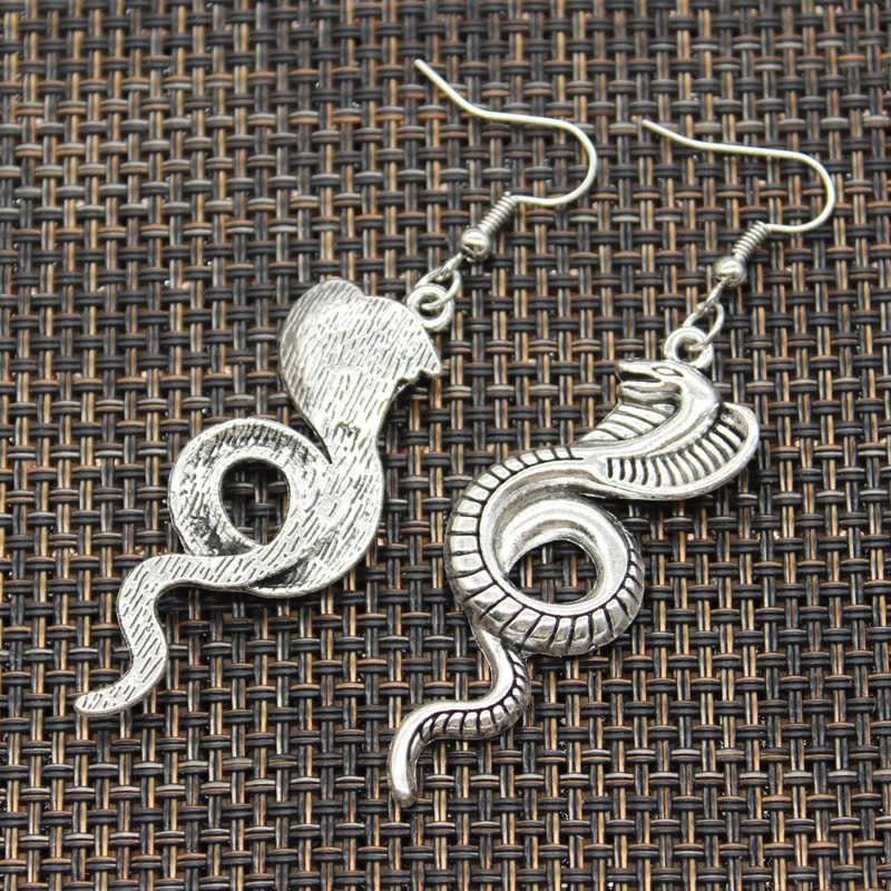 חם מכירות מלך קוברה נחש תליוני DIY Earringgs עבור מתנת נשים