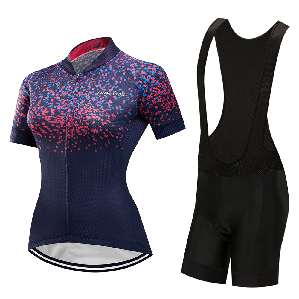 2019 cycling jersey bib shorts Women sport wear mtb bicycle maillot set outfit clothing kit mountain bike clothes female dress