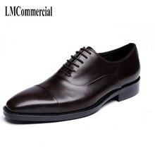 Classic British dress mens head leather shoes spring and autumn cowhide Men,Lace-Up Business Men Shoes,Men Dress Shoes
