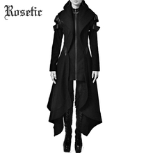 Rosetic Autumn Gothic trench Vintage Fashion Women Overcoats Slim Plain Belt Girls Winter Warm black Female Coats