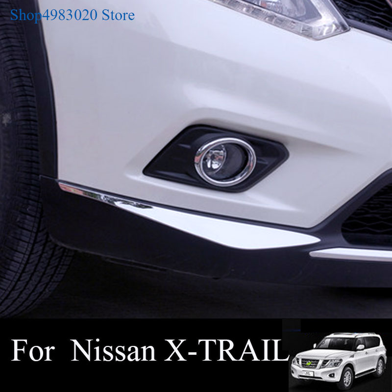 Disciplinato Per Nissan X-trail X Trail T32 Rogue 2014 2015 2016 Paraurti Anteriore Angolo Della Copertura Della Protezione Trim Abs Del Bicromato Di Potassio Accessori Auto 2 Pcs Ineguale Nelle Prestazioni