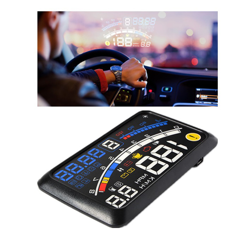 Franchise GPS Excelvan 5.5 Inch Universal OBD2 Car GPS HUD Head Up Display Overspeed Warning System For All Vehicle H0304