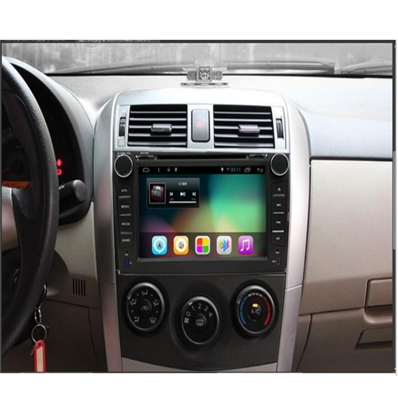 8 pouces Android 8.01 Quad Core 1024*600 pour TOYOTA COROLLA 2007 2008 2009 2010 2011 2012 navigation dvd pour voiture radio gps