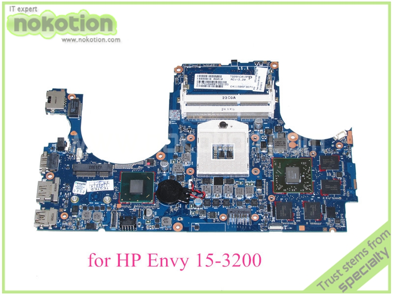 NOKOTION SPS 679814-001 For HP Envy 15-3200 motherboard Series Notebook PC system board HM76 ATI HD7750M Graphics DDR3 nokotion sps v000198120 for toshiba satellite a500 a505 motherboard intel gm45 ddr2 6050a2323101 mb a01