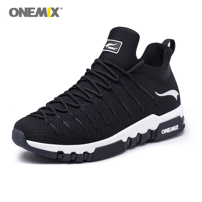Onemix Men Running Shoes For Women Sneakers Black Max Cushion Trail Gym Ladies Jogging Trainers Outdoor Sport Walking Zapatillas-in Running Shoes from Sports & Entertainment    3