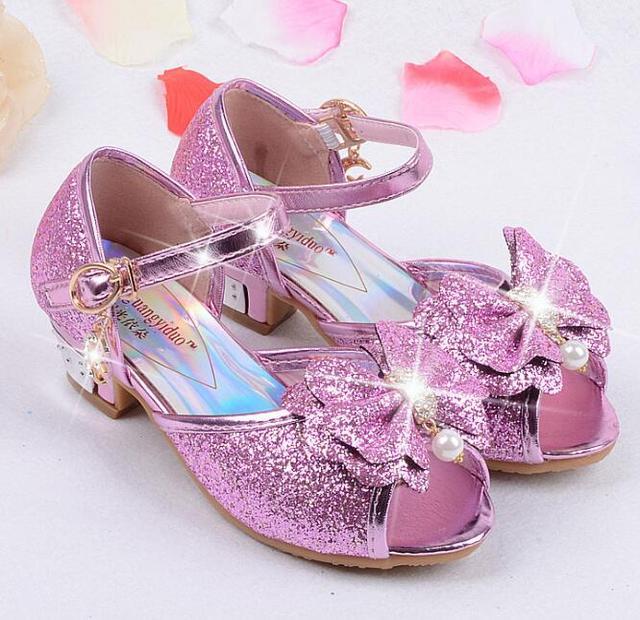 bf720fde8 2019 los niños princesa lentejuelas sandalias de los niños